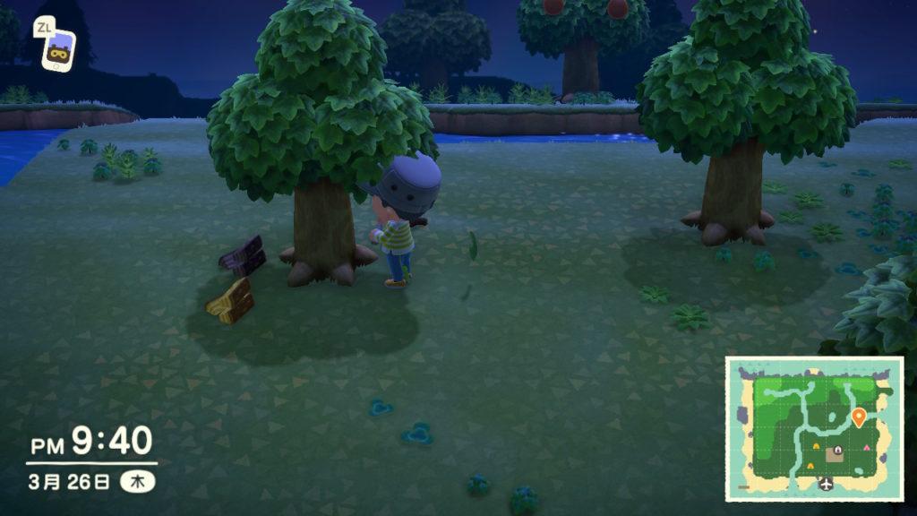 あつまれどうぶつの森 木の伐採