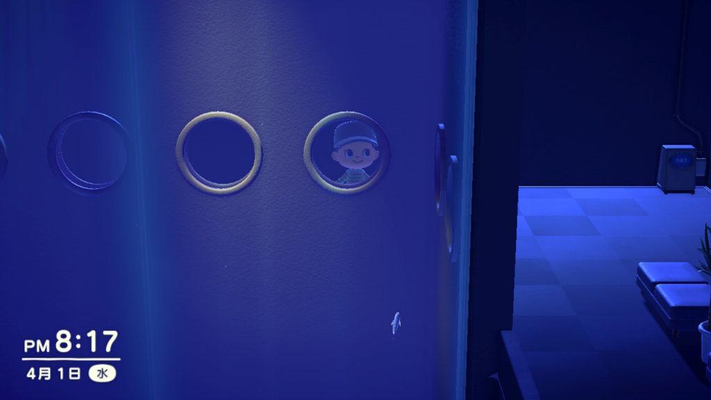 あつまれどうぶつの森 博物館 サカナの展示室