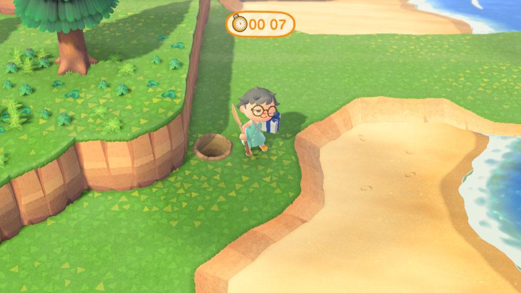 あつまれどうぶつの森 シェリー 宝探しゲーム、お宝見つけた