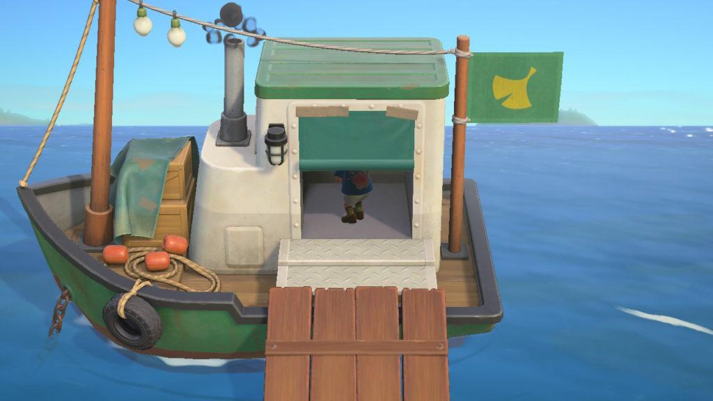 あつまれどうぶつの森 北の浜辺 船に入る